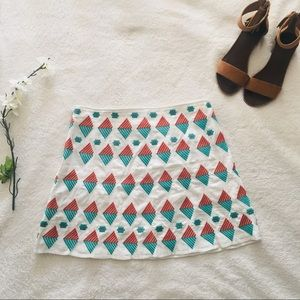 $5 W/ BUNDLE THML Bea Geo Embroidered Skirt